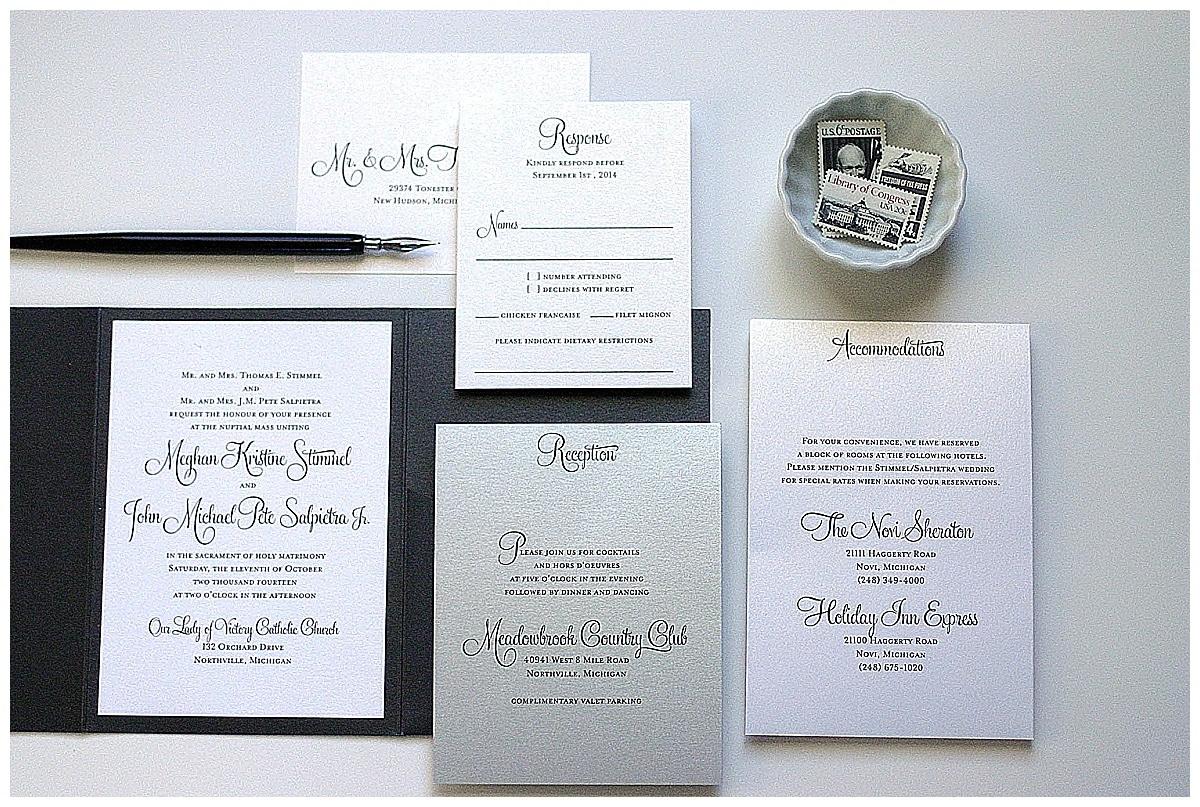 black silver wedding invitations - 28 images - black silver wedding ...