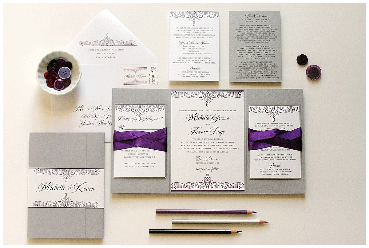 purple and silver wedding invitations gourmet invitations_0002 - Purple And Silver Wedding Invitations