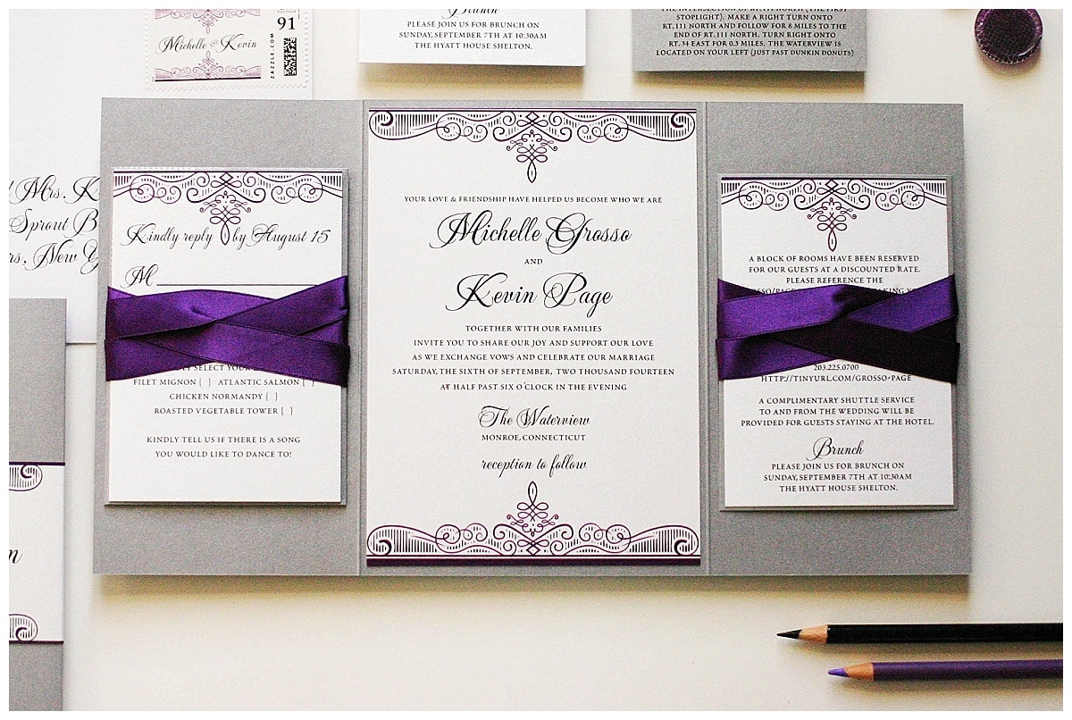 Purple And Silver Wedding Invitations 022 - Purple And Silver Wedding Invitations
