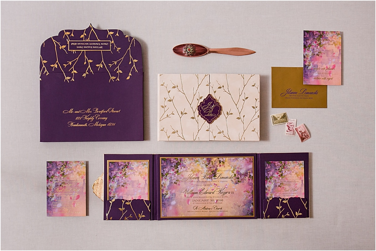 Enchanted Forest Invitations a Northern Michigan wedding Gourmet